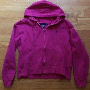 RL Sport Womens Zipper Sweatshirt